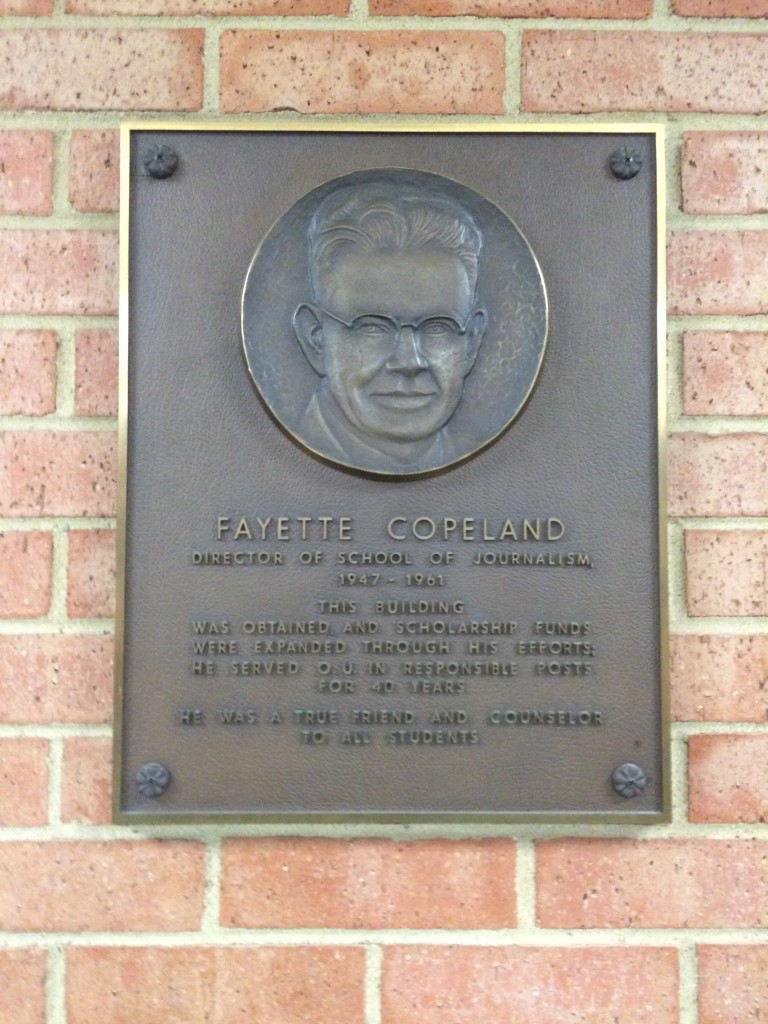 He raised the funds for the building. Definitely gets a plaque.