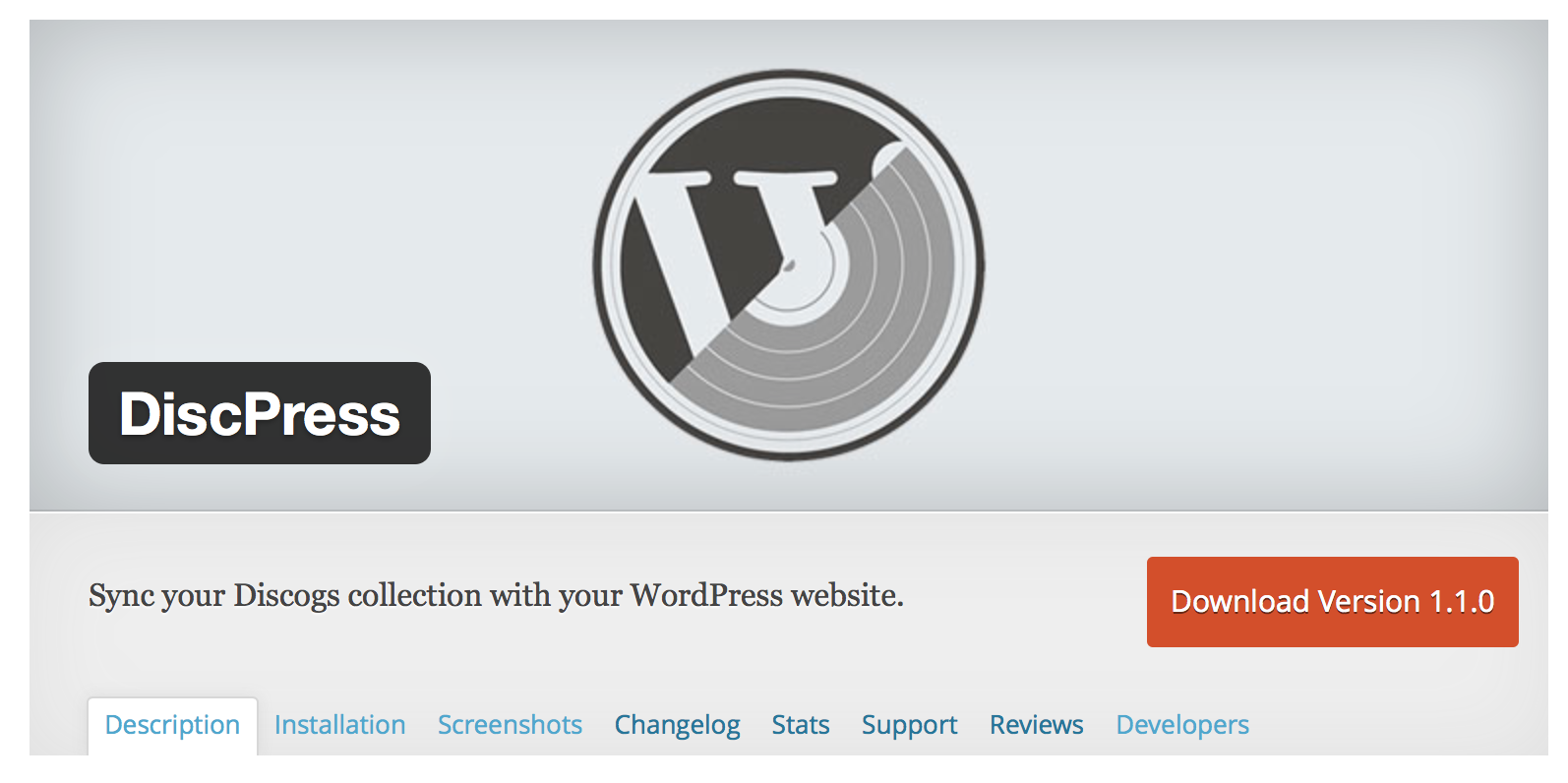 DiscPress – A Vinyl WordPress Plugin