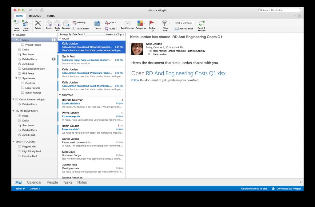 Outlook 2016 for Mac. New year, same bulk.